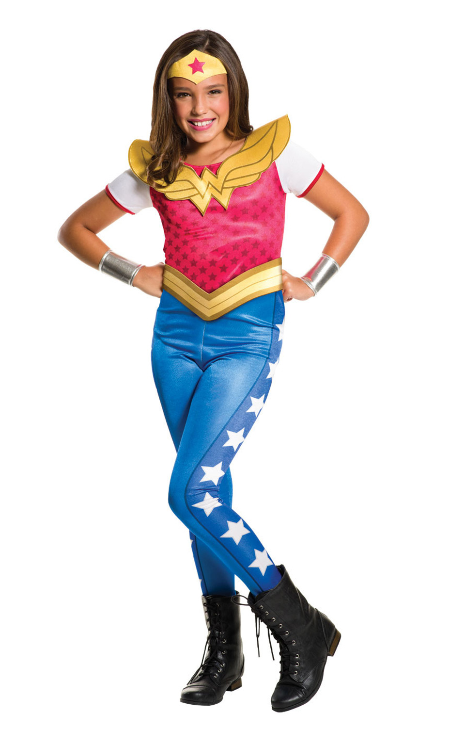 ... Picture 2 of 2  sc 1 st  eBay & Wonder Woman Costume Kids DC Super Hero Girls Outfit Large Age 8 ...