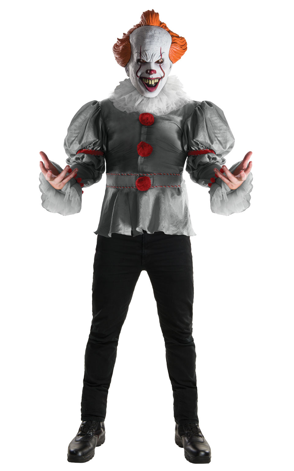 Rubieu0027s Official Stephen Kingu0027s IT Pennywise Deluxe Fancy Dress Clown Costume  sc 1 st  eBay & Rubieu0027s Official Stephen Kingu0027s IT Pennywise Deluxe Fancy Dress ...
